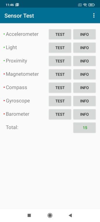 Recenze Xiaomi Redmi 9A - senzory