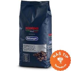 DeLonghi Kimbo Espresso Classic zrnková káva 1 kg - test a chuť kávy zrnkové