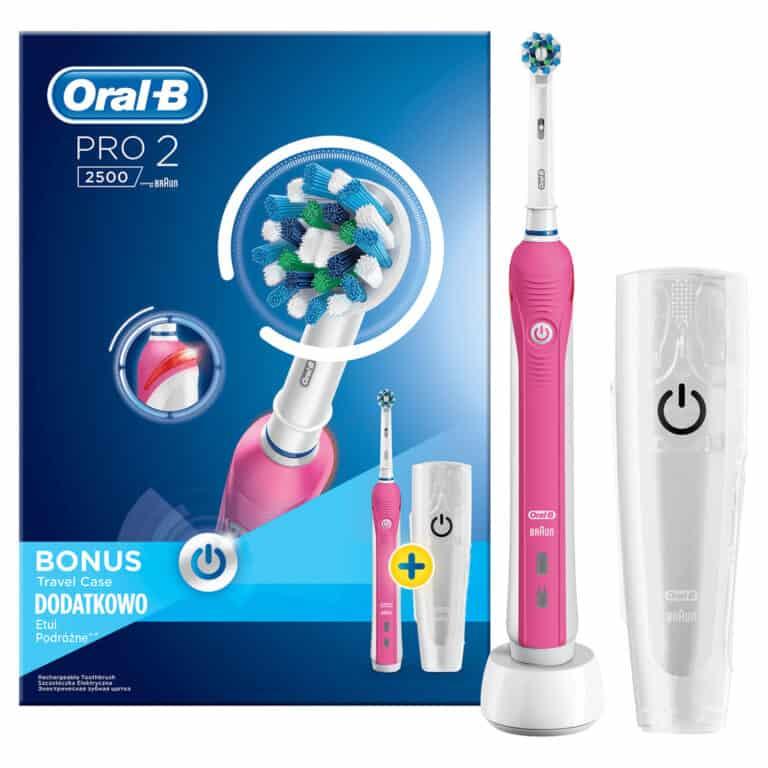 Oral-B Pro 2500 CrossAction PINK D20.513.2MX - kartáček na zuby