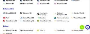 Telly TV satelit programová nabídka