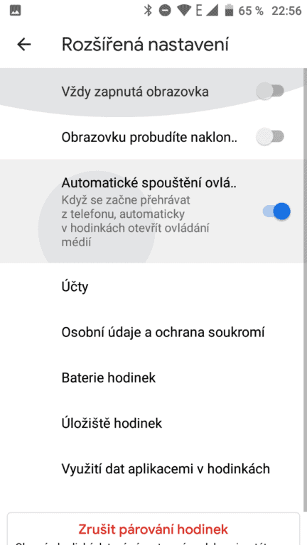 TicWatch 4G LTE aplikace nastavení
