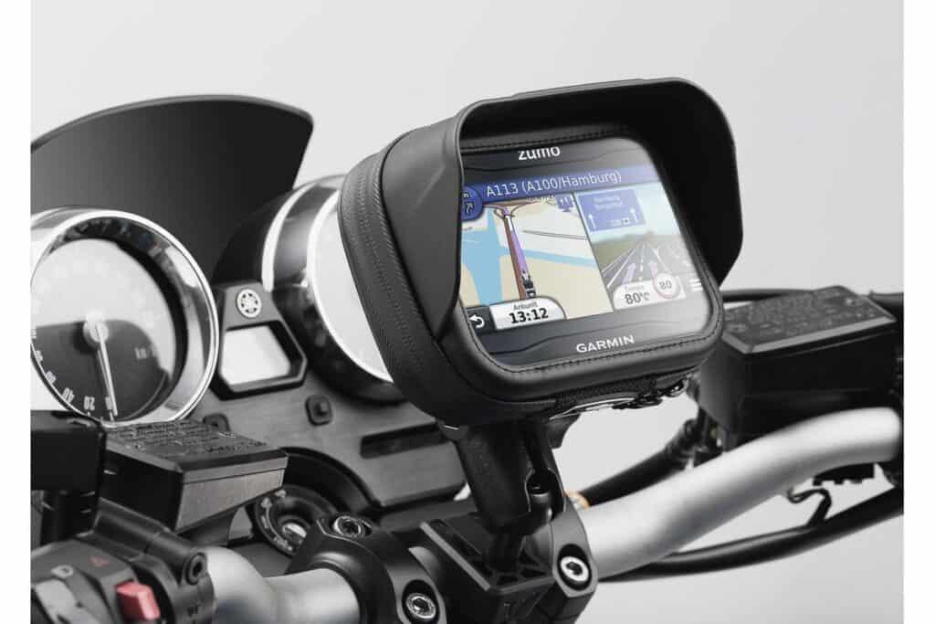 Velikost displeje u navigací na motocykl