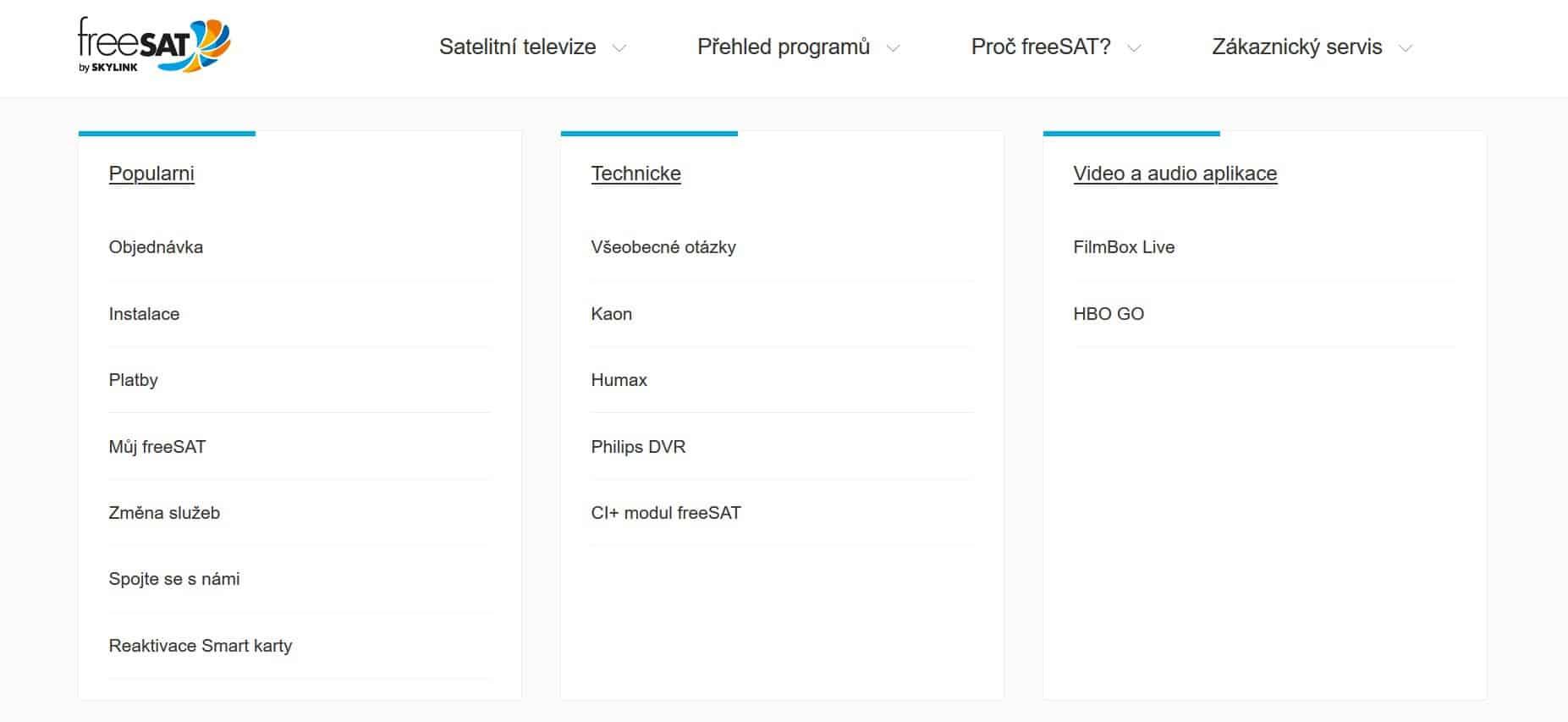 freeSAT klientský servis