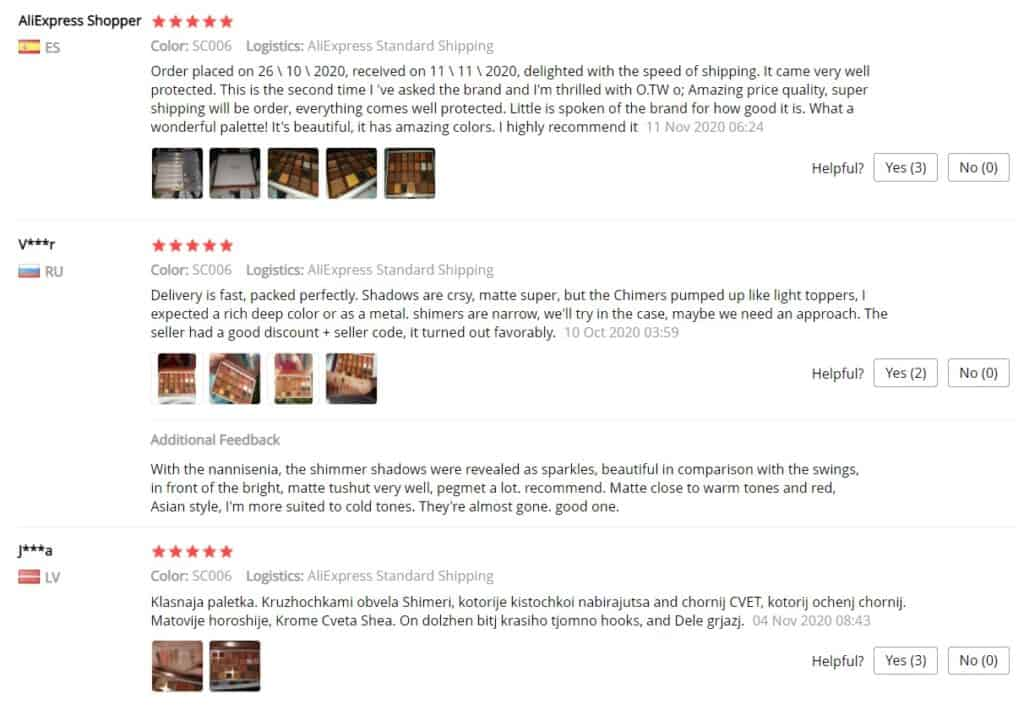 uživatelské recenze Aliexpress