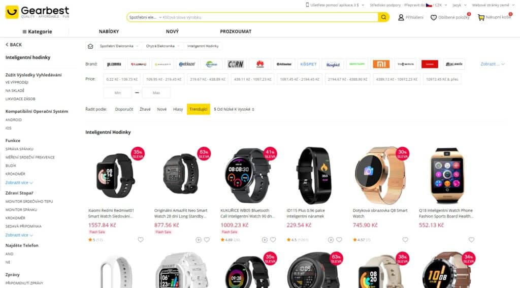 čínský e-shop Gearbest