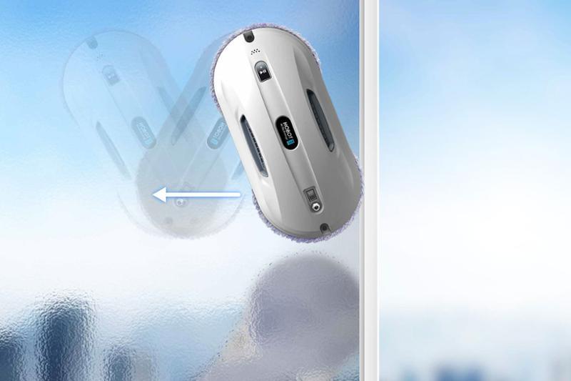 pohyb robotického vysavače oken Hobot 368
