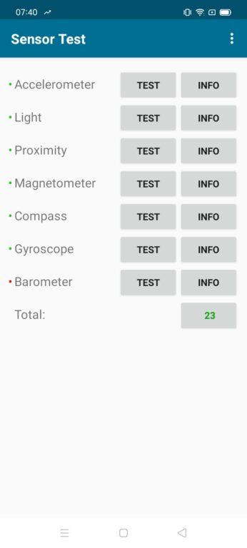 recenze Realme 7i senzory