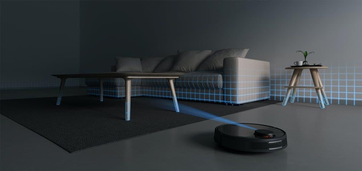 laserová navigace robotického vysavače