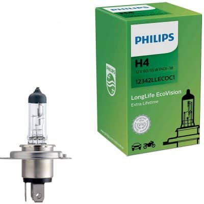 Philips LongLife EcoVision 12342LLECOC1 H4 P43t-38 12V 60/55W