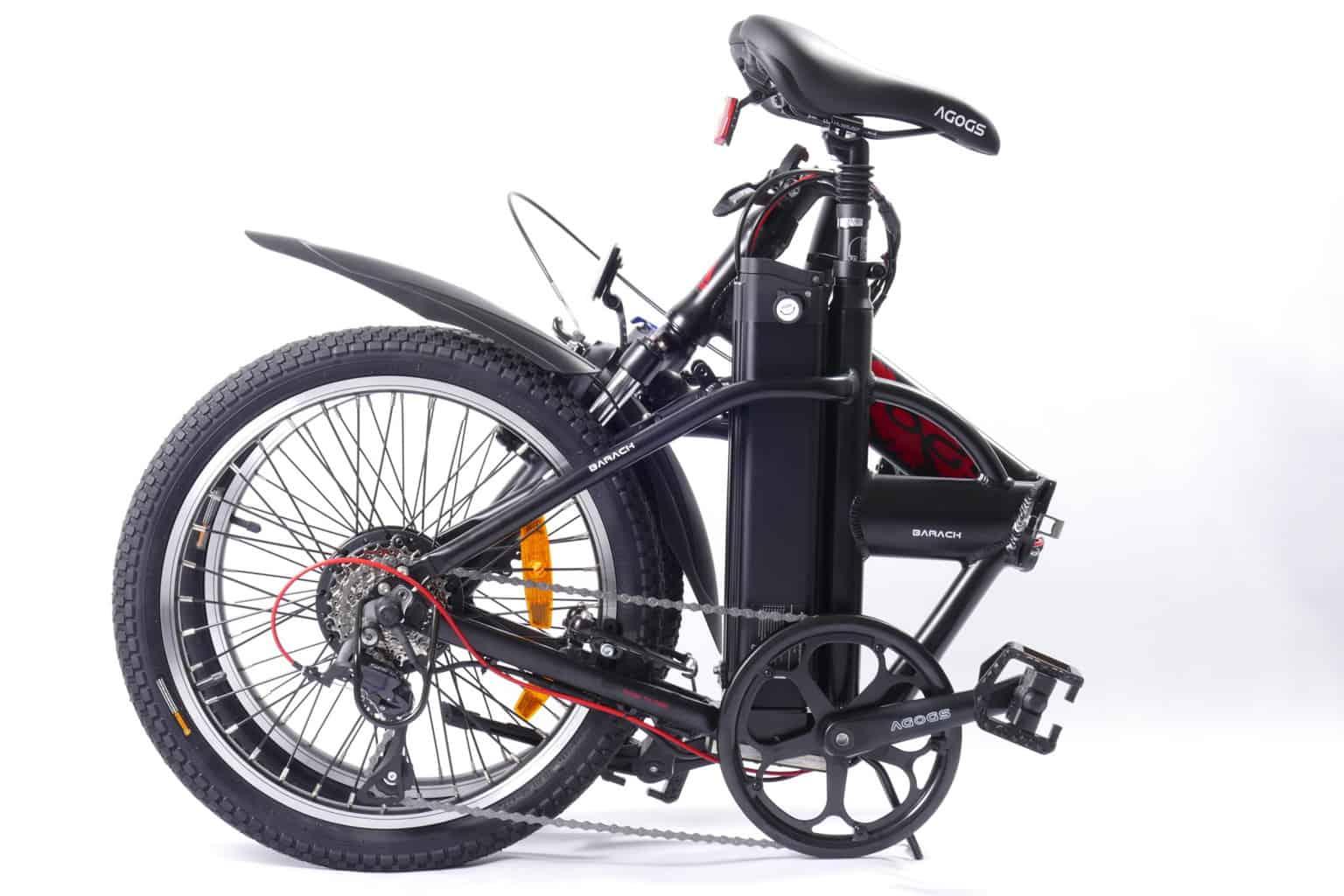 složené kompaktní elektro kolo