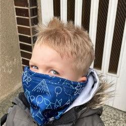 antivirový šátek pro děti nanoSPACE - recenze, motiv liška