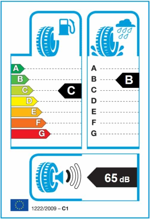 energetický štítek pneumatik Hankook K117 S1 Evo2