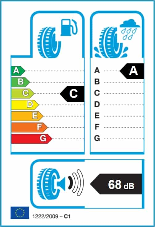 energetický štítek Nokian WetProof 205-55 R16 91V