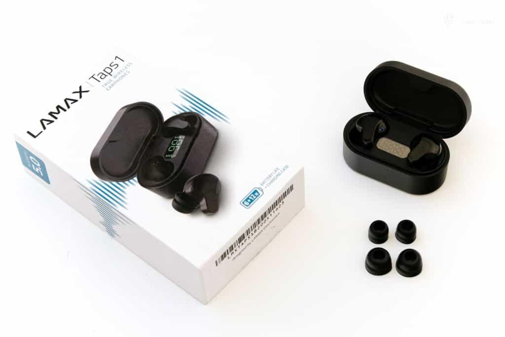 test bezdrátových sluchátek Lamax Taps1 - obsah balení