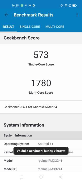 Realme 8 5G - výkon