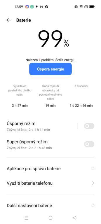 Realme 8 5G - systém