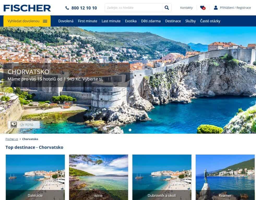 cestovní kanceláře Fischer - ceny zájezdů a dovolených