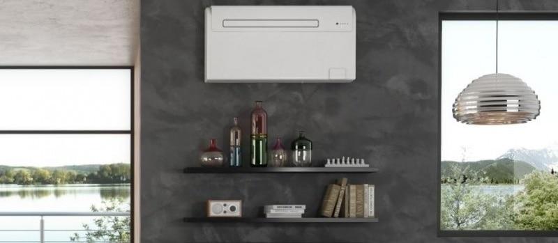 nainstalovaná klimatizace Olimpia Splendid Unico Air 8 HP v místnosti