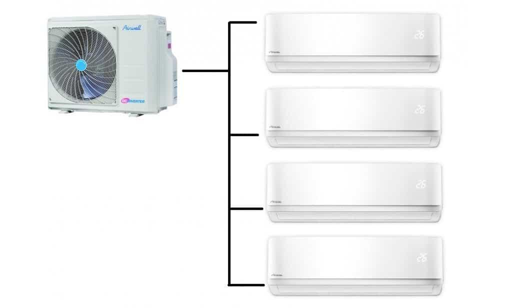 systém multi split klimatizací