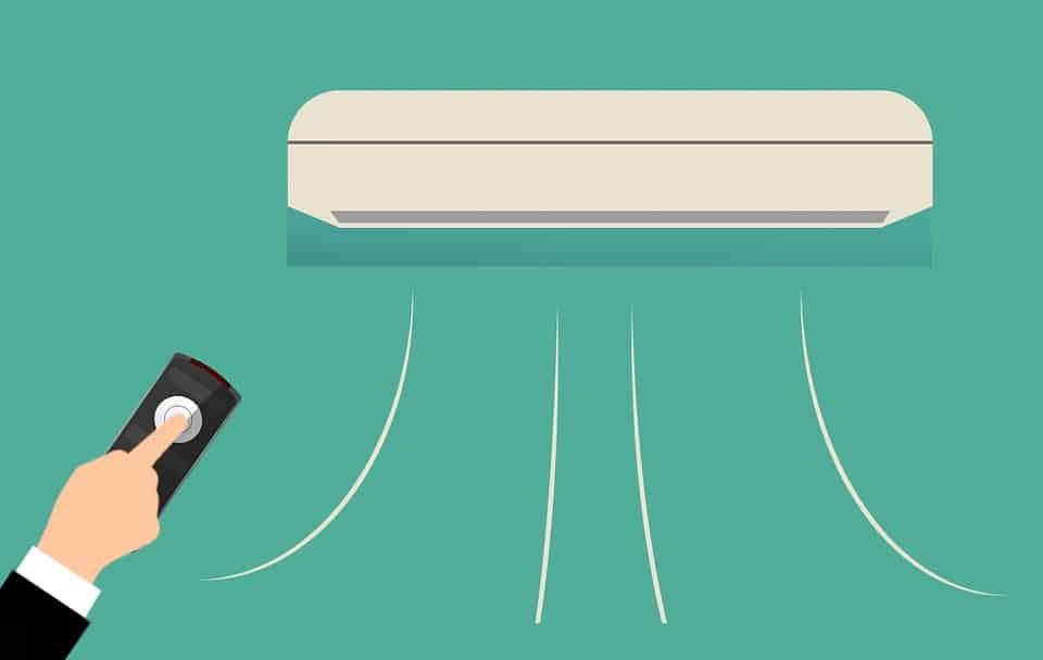 dálkový ovladač na klimatizaci