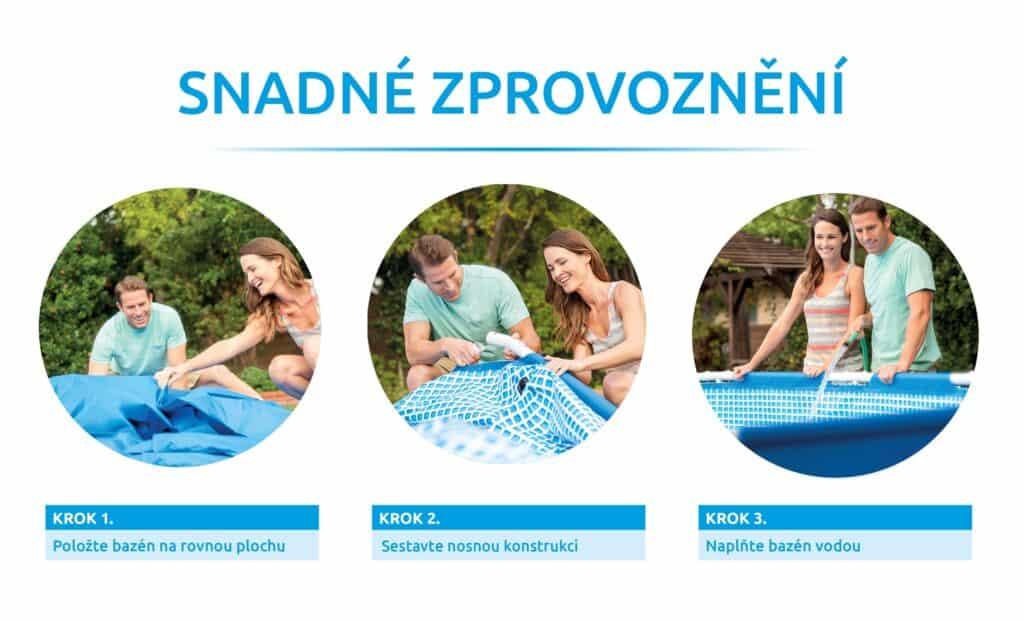 Sestavení foliového bazénu s pevnou konstrukcí Intex