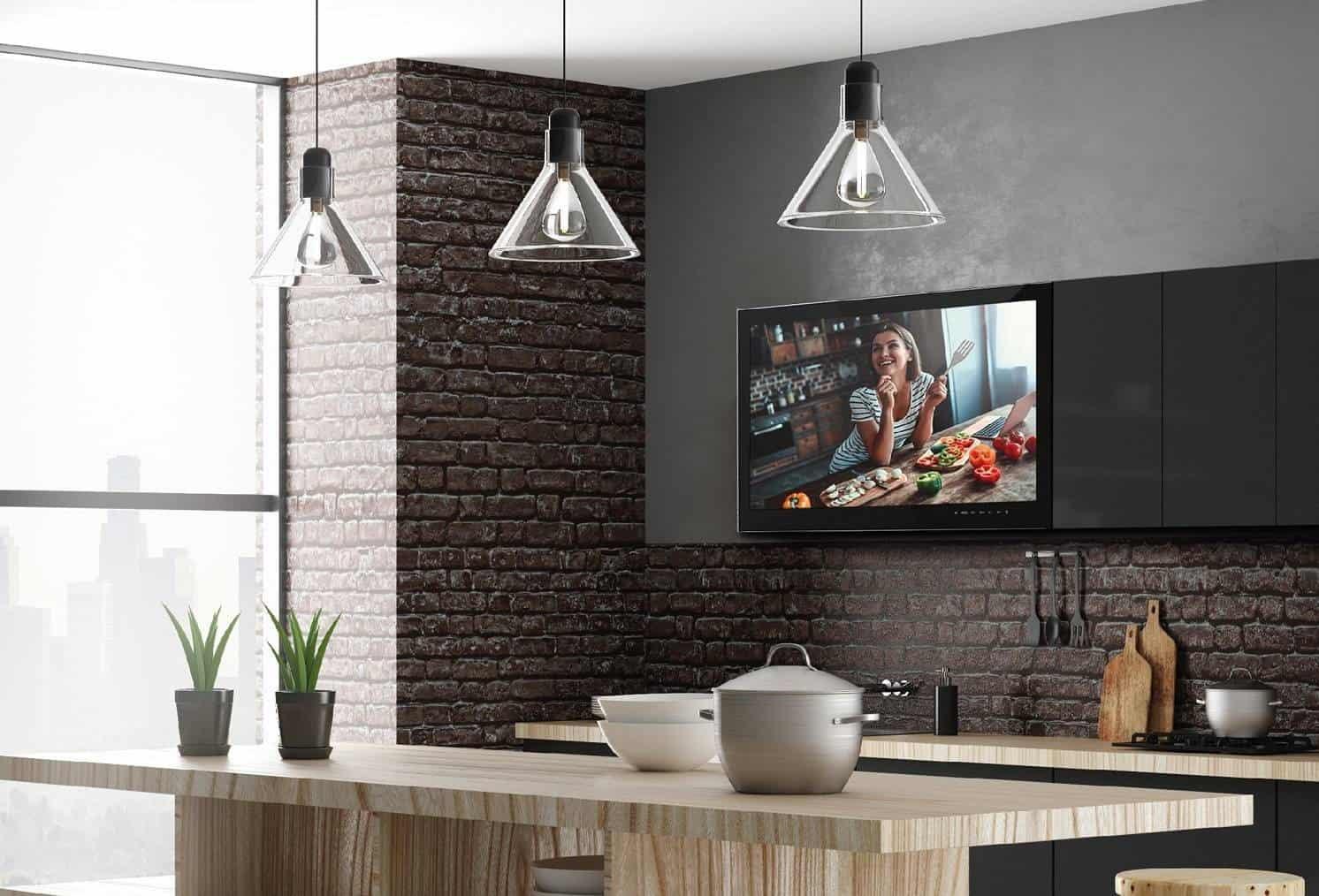 Vestavná televize v kuchyni