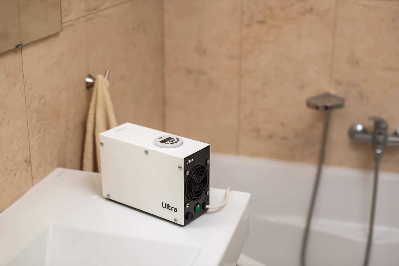Generátor ozonu - čištění koupelny