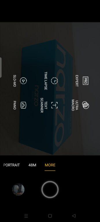 Realme Narzo 30 5G nastavení systému