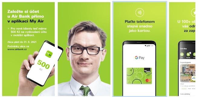 Bankovní aplikace pro placení z účtu