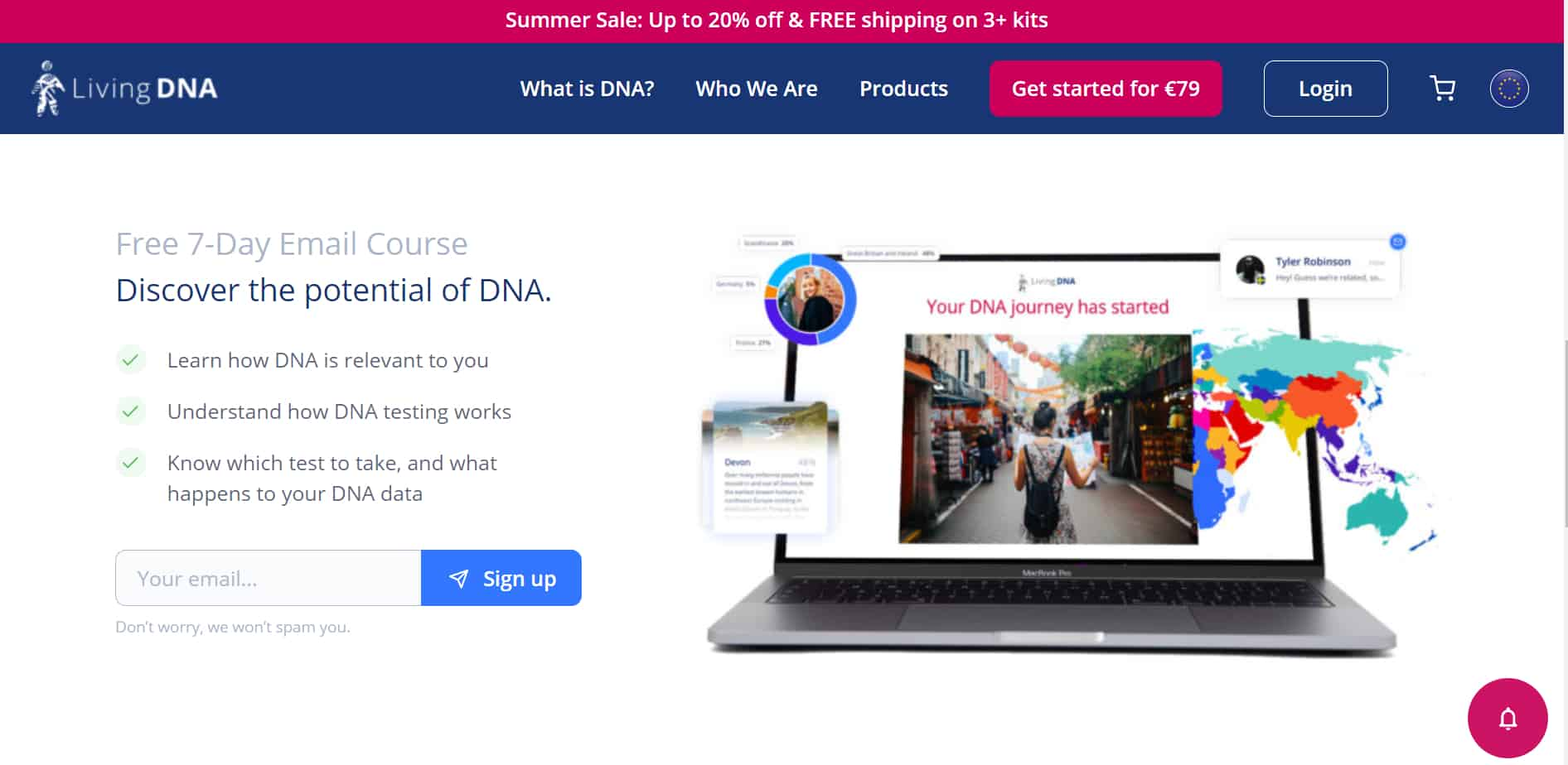 LivingDNA emailový kurz recenze