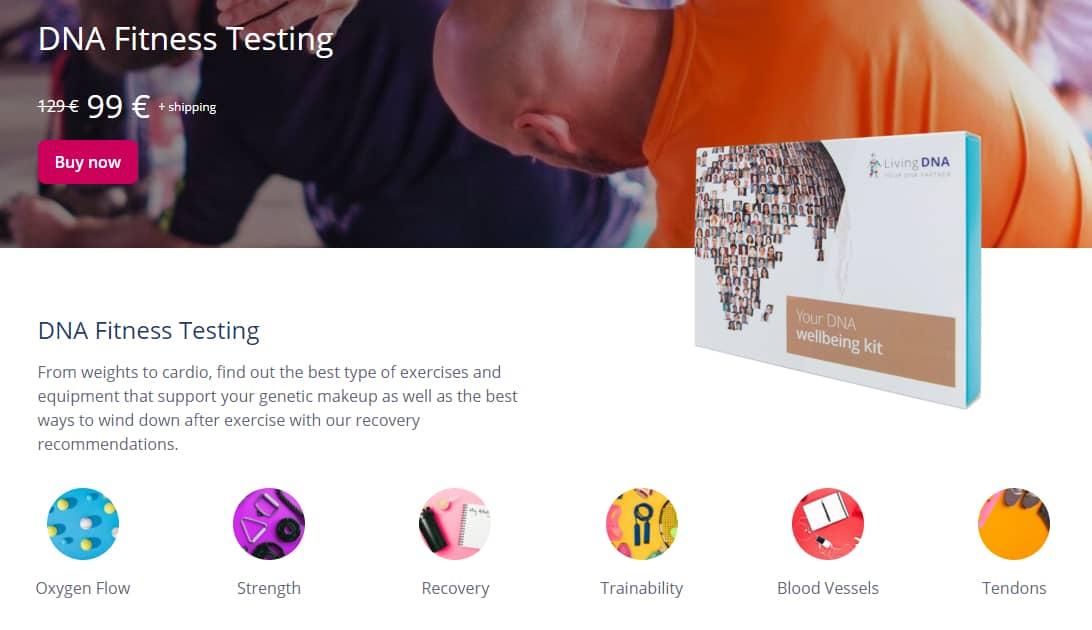 LivingDNA fitness DNA test recenze