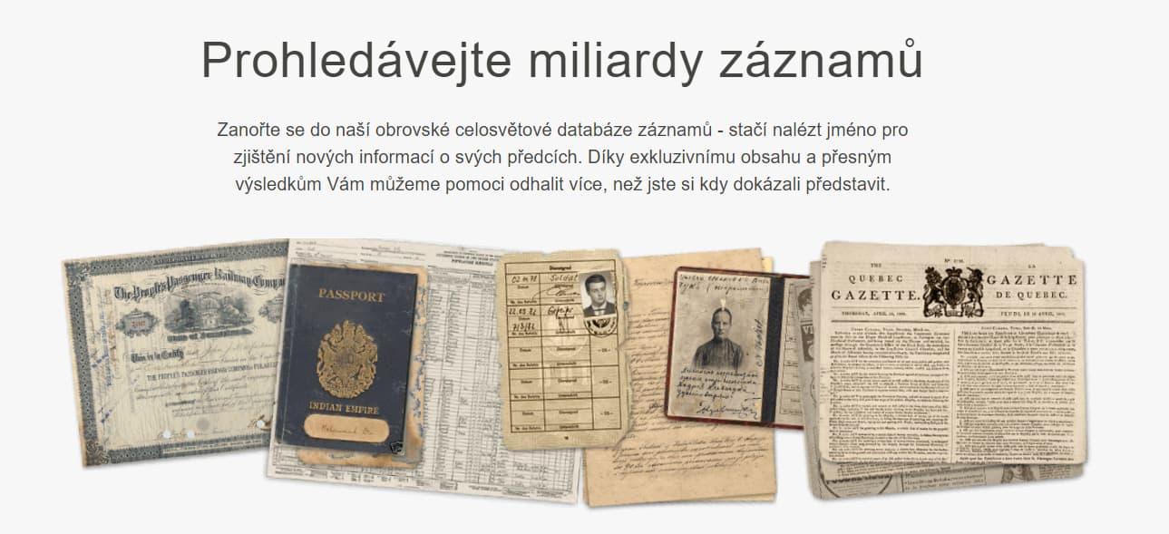 MyHeritage historické záznamy recenze