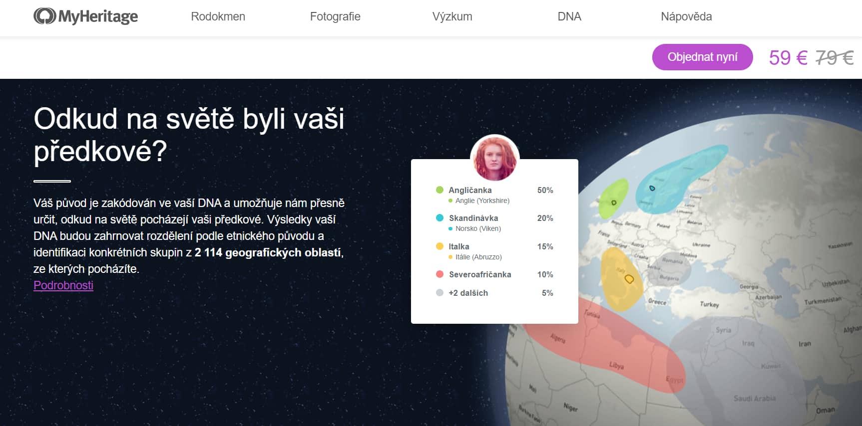 MyHeritage recenze a hodnocení
