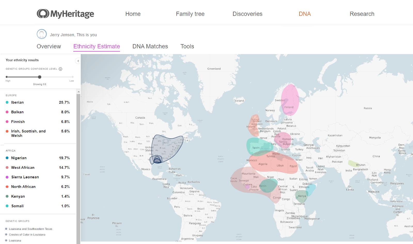 MyHeritage vyhodnocení výsledků recenze