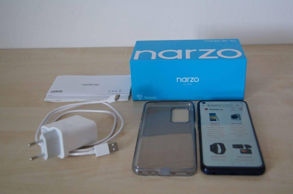 Realme Narzo 30 5G - obsah základního balení
