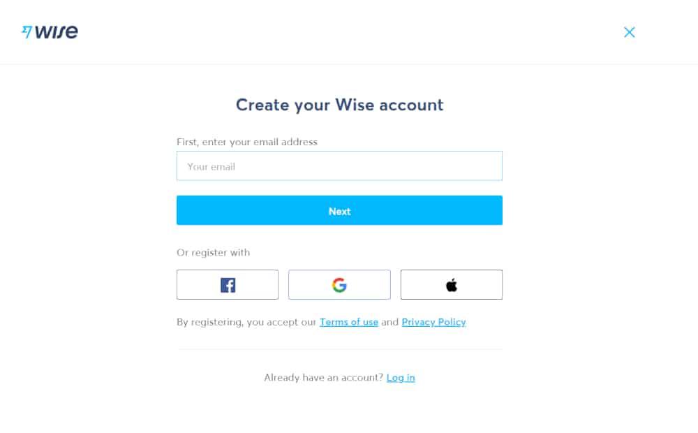 Online směnárna Wise - registrace - recenze