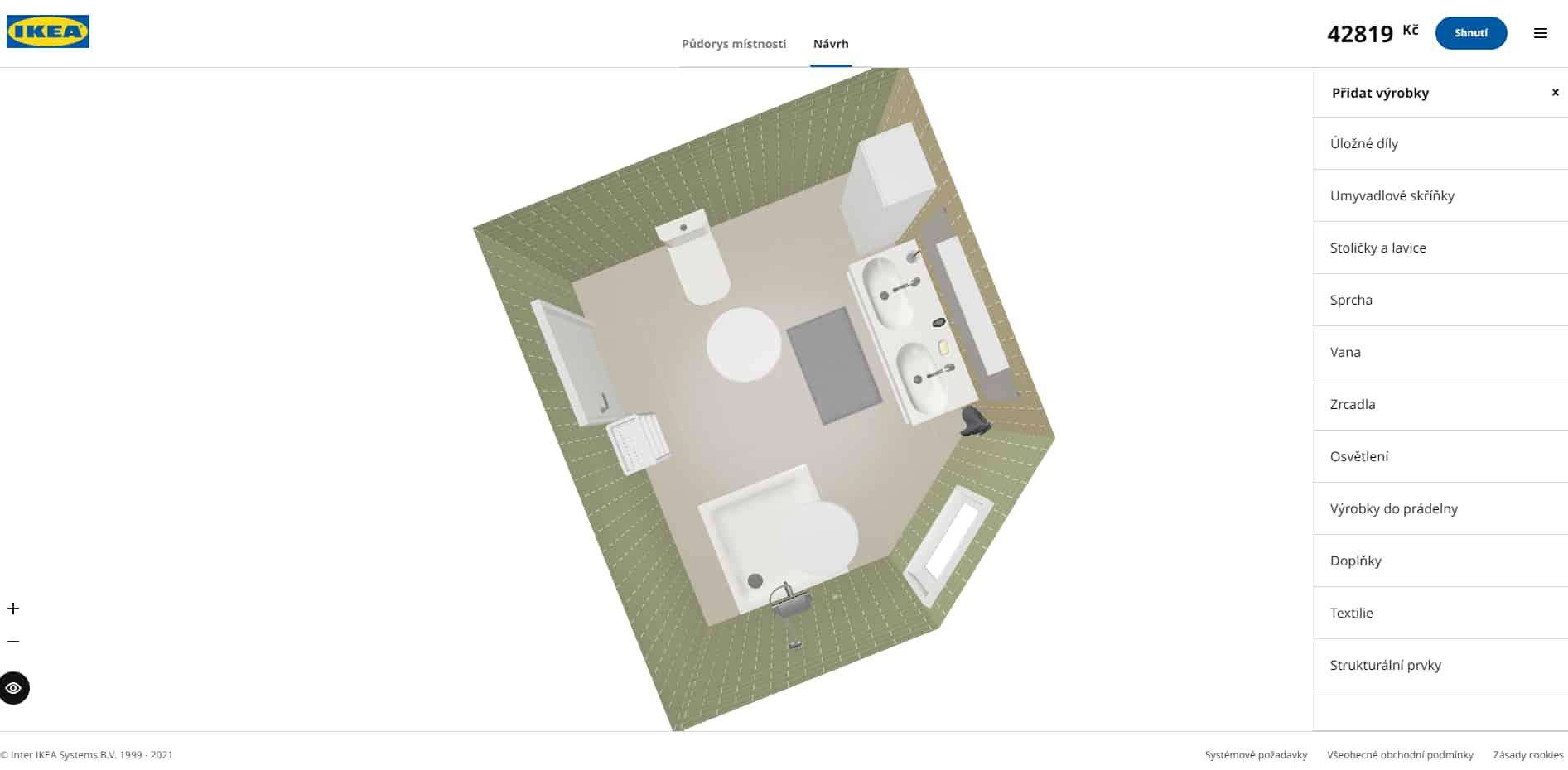 3D návrh koupelny Ikea recenze