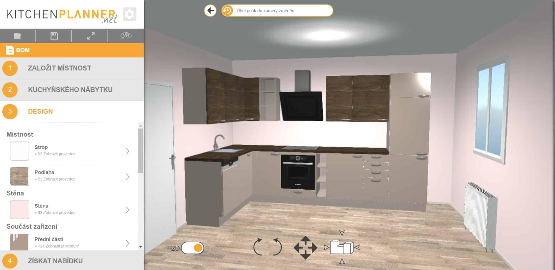 3D plánovač kuchyní Kitchenplanner.net recenze