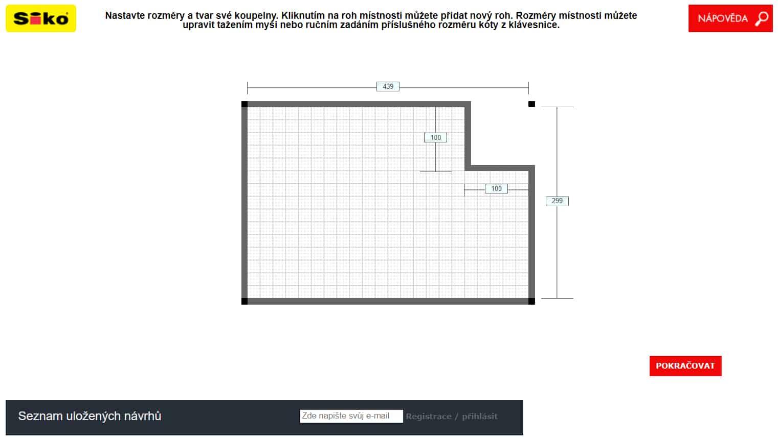 Siko konfigurátor koupelen půdorys recenze
