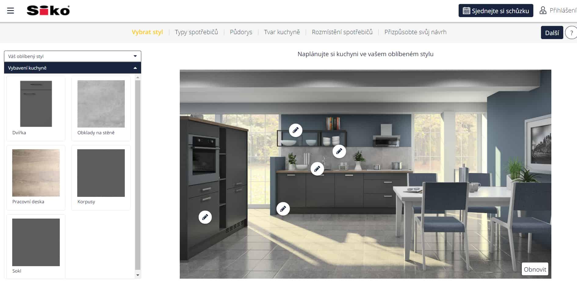Konfigurátor kuchyní Siko 3D - recenze