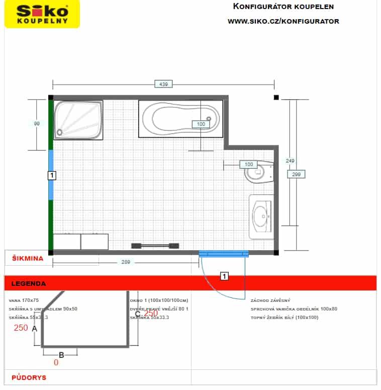 Siko konfigurátor koupelny plán recenze