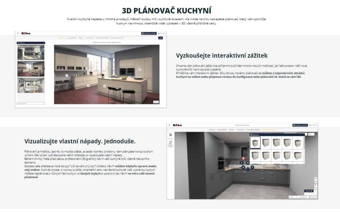 Siko - 3D plánovač kuchyní zdarma