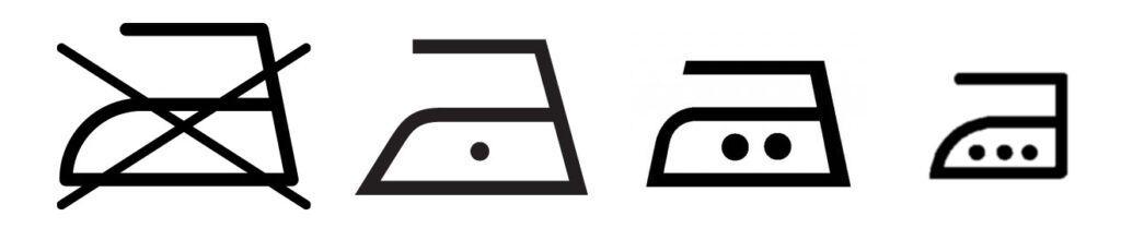 Symboly žehlení prádla - vysvětlení